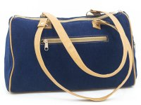 Cartera bordada de jean CAR0802001