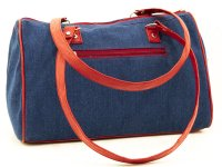 Cartera bordada de jean CAR0802153