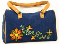 Cartera bordada de jean CAR0802154