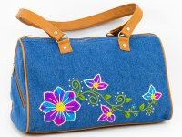 Cartera bordada de jean CAR0802003