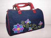 Cartera bordada de jean CAR0802002