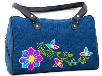 Cartera bordada de jean CAR0802156