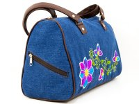 Cartera bordada de jean CAR0802155
