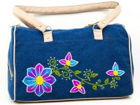 Cartera bordada de jean CAR0802157