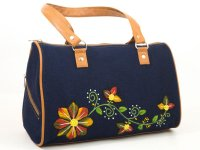 Cartera bordada de jean CAR0802213